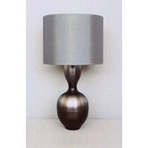 Ruby Table Lamp in Smoke with Platinum Shade