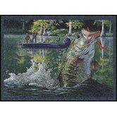Eddie LeRoy Leaping Bass Novelty Rug