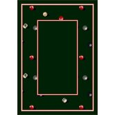 Design Center Billiards Emerald Novelty Rug