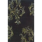Ventura Black/Green Rug