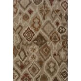 Adrienne Grey/Orange Tribal Rug