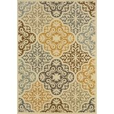 Bali Ivory/Grey Floral Indoor/Outdoor Rug