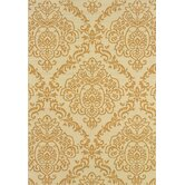 Bali Ivory/Gold Floral Indoor/Outdoor Rug