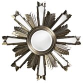 Jacob Wall Mirror in Antique Silver Leaf