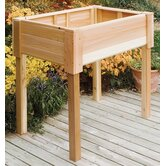 "Cedar Rectangular Raised 18.25"" Container Garden"