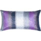 Black and Purple Cotton Decorative Pillow