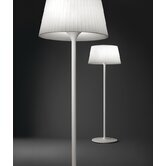 Plis Outdoor Floor Lamp in White Lacquered