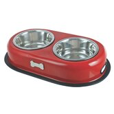 Double Dog Bowl in Red