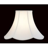 Shantung  Lamp Shade with Scalloped Edge