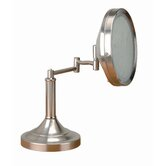 Vogue Make Up Mirror and Lamp in Polished Steel