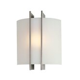 Checks Linear   Wall Sconce in Steel and Frosted Glass