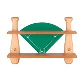 21&quot; H Baseball Field Shelf in Natural Wood