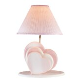 Heart  Table Lamp in Pink