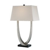 Gustavo  Table Lamp in Silver and Black