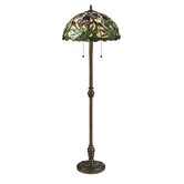 Kamran  Floor Lamp in Antique Brass
