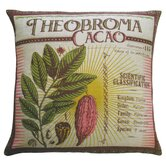 Botanica 20&quot; x 20&quot; Linen Pillow with Theobroma Cacao Print