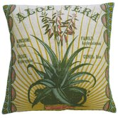 Botanica 20&quot; x 20&quot; Linen Pillow with Aloe Vera Print