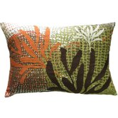 "Ecco 13"" x 20"" Pillow with Rust / Brown Leaves"