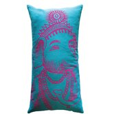 Bazaar Ganesh Pillow in Turquoise