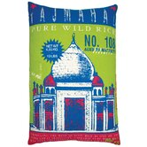 "Rice 13"" x 20"" Pillow with Taj Mahal Print"