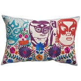 Mexico Cotton El Santo Print Pillow