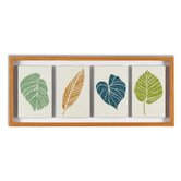 "Floating Leaves Framed Print Art - 12"" X 28"""