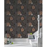 Laurence Llewelyn Bowen Duchess Wallpaper in Black / Brown