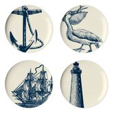 Scrimshaw Dessert Plate (Set of 4)
