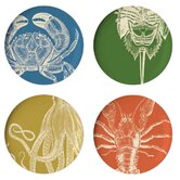 Sea Life Dinner Plate (Set of 4)