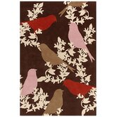 Tufted Pile Chocolate/Persimmon Goldfinch Rug
