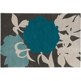 Tufted Pile Blue/Gris Peony Rug