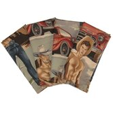 Smokin' Hot Cowboys Napkin (Set of 4)