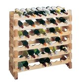 Country Pine 9 Bottle Wine Rack (Set of 2)