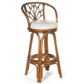 "Valencia Indoor Rattan 24"" Swivel Counter Stool"