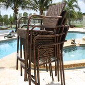 Grenada Patio Stackable Barstools with Arms