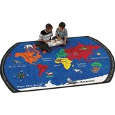 Educational Maps That Teach Kids Rug