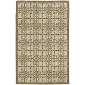 Five Seasons Cream/Coral Red Delray Rug