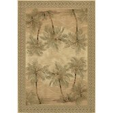 Everest Palm Tree Desert Sand Floral Rug