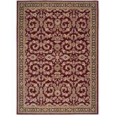 Arabesque Juliard Firebrick Red Rug