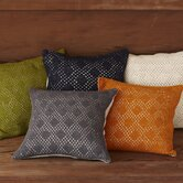 Diamond Crochet Linen Decorative Pillow