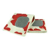 "MUmodern 12"" x 12"" Cloth in Red Poppy (Set of 2)"