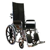 Standard Deluxe Reclining Wheelchair in Black