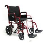Bariatric Transport Wheelchair with Removable Armrest