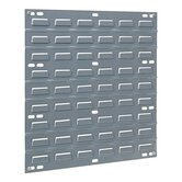 Louvered Panel, Wall Mountable, 1&quot;x18&quot;x19&quot;, Gray