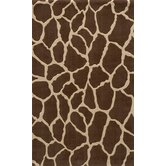 Deco Giraffe Brown Rug