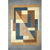 New Wave IV Blue/Brown Rug