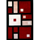 New Wave Black/Red Rug