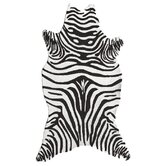 Resort Black Zebra Shaped Outdoor Rug