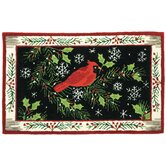 Accents Seasonal Christmas Cardinal Novelty Rug