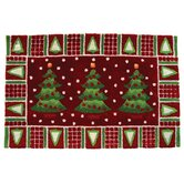 Accents Seasonal Three Trees in Snow Novelty Rug